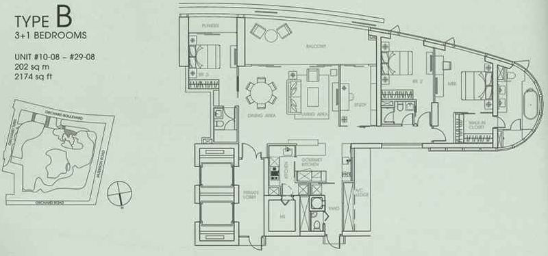 3+1 bedroom floor plans